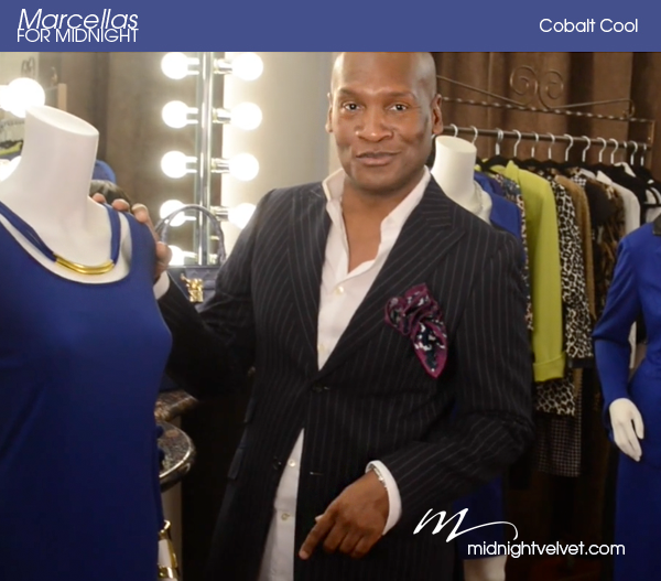 Marcellas Reynolds & Midnight Velvet Cobalt Blue Fashions