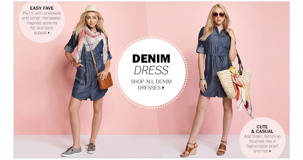 You can wear a denim dress a billion ways!