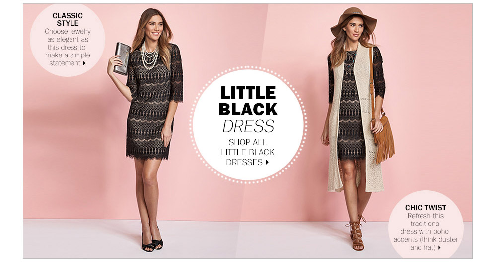 The little black dress is extremely versatile!